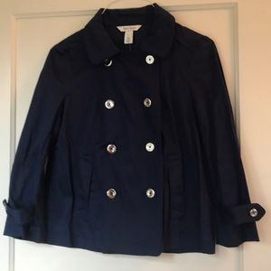 White House 2 Navy  Double Silver  Button Jacket